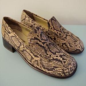 Sam & Libby Vintage 90's Snakeskin Loafers 9.5